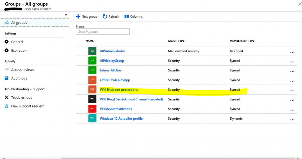 How to manage Windows Defender Security Center with Intune